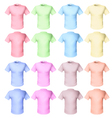 shirts pale tones vector image vector image