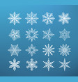 snowflake winter isolated set of flake of snow on vector image
