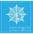 Spider on web White section of icon vector image vector image