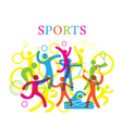 Sports Colorful vector image vector image