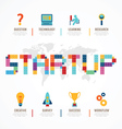Startup Business design concept block alphabet vector image vector image