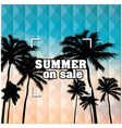 summer on sale beach focus background image vector image