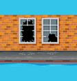 unsafe urban neighborhoods background vector image