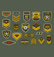 usa armed forces badges military ranks insignia vector image vector image