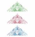 Vintage Ornamental Floral Set vector image vector image
