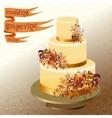 Wedding cake with autumn wild grape Golden design vector image vector image