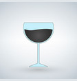 wine glass isolated on white vector image vector image