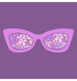 Sunglasses with flowers vector image