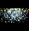 shining lights on dark background vector image