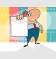 cartoon man with a blank vector image