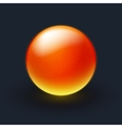 Red and yellow sphere on black background vector image