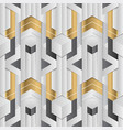 abstract geometric decor stripes white and golden vector image vector image