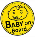Baby on board vector image vector image