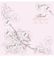 Background with peony and bindweed vector image vector image