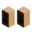 black acoustic speakers loudspeakers isolated on vector image