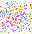 bright colorful yellow red and blue confetti vector image vector image