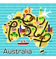 Cartoon map of Australia vector image vector image