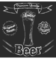 chalk glass beer vector image vector image