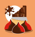 chocolate cocoa card vector image