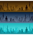 Cityscape backgrounds City in the morning vector image vector image