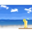 coctail on the beach vector image vector image