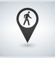 common pedestrian icon man walking by foot map vector image vector image