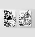 cover templates set liquid black white background vector image