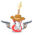 cowboy miniature guitar electric in the cartoon vector image