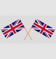 crossed uk flags official colors vector image vector image