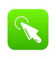 cursor clean icon simple black style vector image vector image