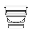 cute bucket isolated icon vector image