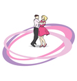 Dancers on the dancefloor vector | Price: 1 Credit (USD $1)