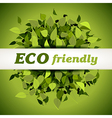 Eco friendly label vector image