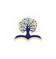 education logo template vector image vector image