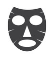 facial mask icon vector image