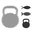 fish halftone weight mosaic vector image