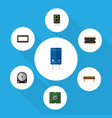flat icon appliance set of display bobbin unit vector image vector image