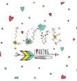 Floral elements of vintage Prase love is loading vector image vector image