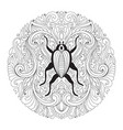 floral mandala with bug vector image vector image