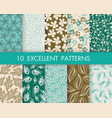 floral pattern set can be used for wallpaper web vector image vector image