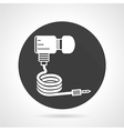 Gas hose black round icon vector image