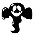 ghost scaring icon simple black style vector image vector image