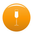 glass of champagne icon orange vector image vector image