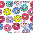 glazed donuts seamless background fast street vector image