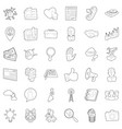 good business icons set outline style vector image vector image