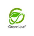 green leaf initial letter g logo concept design vector image vector image