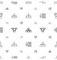 hierarchy icons pattern seamless white background vector image vector image