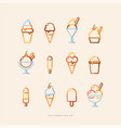 ice cream icon set vector image vector image