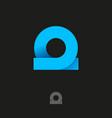 logo omega loop ribbon origami vector image