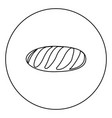 long loaf icon black color in circle vector image